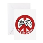 Peace is the word Greeting Cards (Pk of 20)