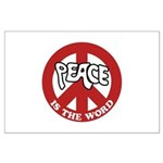 Peace is the word Large Poster