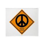 Peace Ahead Throw Blanket