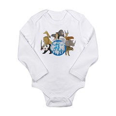 They Were Here First Long Sleeve Infant Bodysuit
