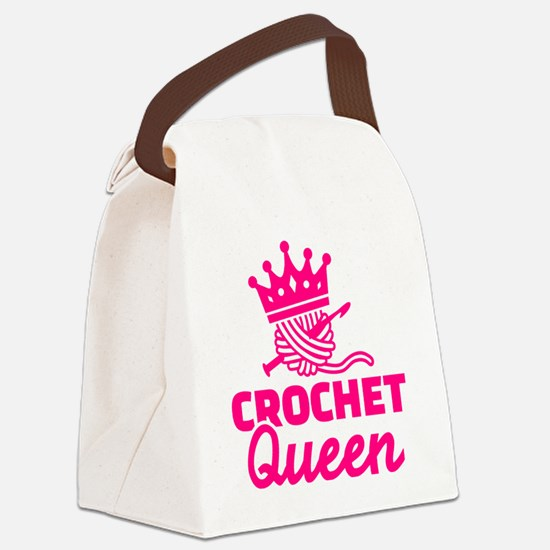 Unique Knitting queen Canvas Lunch Bag