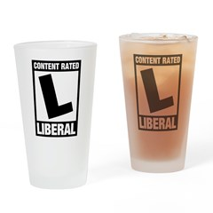 Content Rated Liberal Pint Glass