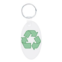 Path to Recycling Aluminum Oval Keychain