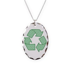 Path to Recycling Necklace Oval Charm