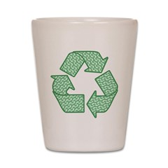 Path to Recycling Shot Glass