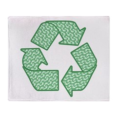 Path to Recycling Throw Blanket