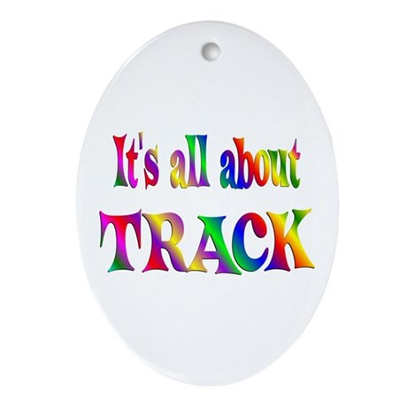 About Track Ornament (Oval)