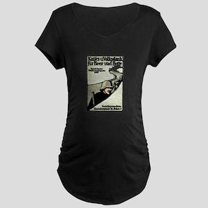 Kaiser's Christmas Support Maternity Dark T-Shirt