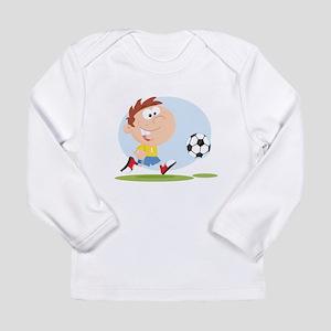 Cartoon Male Soccer Player Long Sleeve Infant T-Sh