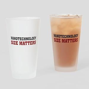 Nanotechnology Size Matters Pint Glass