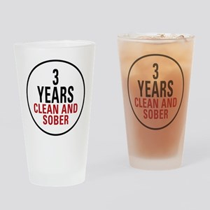 3 Years Clean & Sober Pint Glass