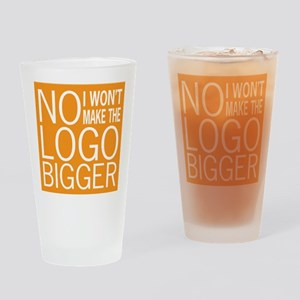 No Big Logos Pint Glass