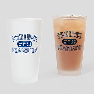 Dreidel Champion Pint Glass