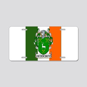 Hennessey Flag Arms Aluminum License Plate