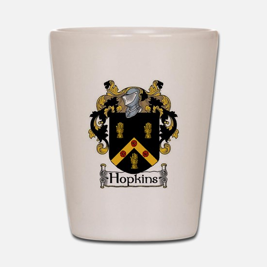 Hopkins Coat of Arms Shot Glass