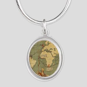 Antique World Map Vintage Earth Necklaces
