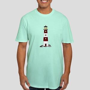 Lighthouse Men's Fitted T-Shirt (dark)