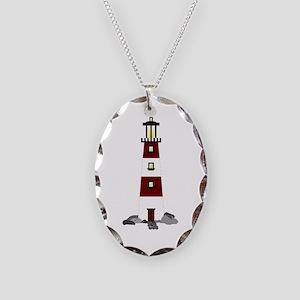 Lighthouse Necklace Oval Charm