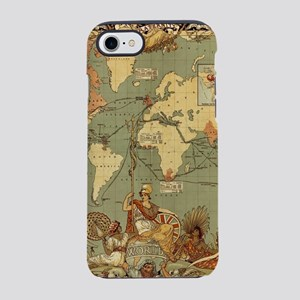 Antique World Map Vintage Eart iPhone 7 Tough Case