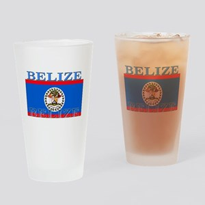 Belize Belizean Flag Pint Glass
