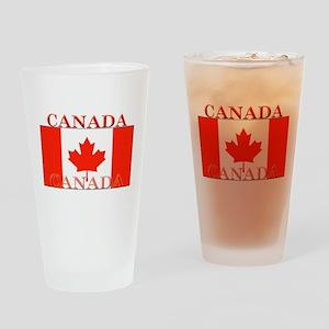 Canada Canadian Flag Pint Glass