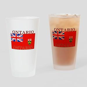 Ontario Ontarian Flag Pint Glass