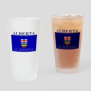 Alberta Albertan Flag Pint Glass