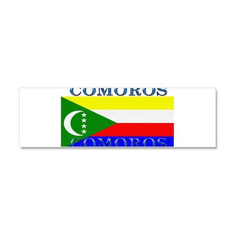 Comoros Car Magnet 10 x 3