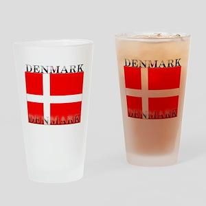 Denmark Danish Flag Pint Glass
