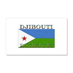 Djibouti Car Magnet 12 x 20