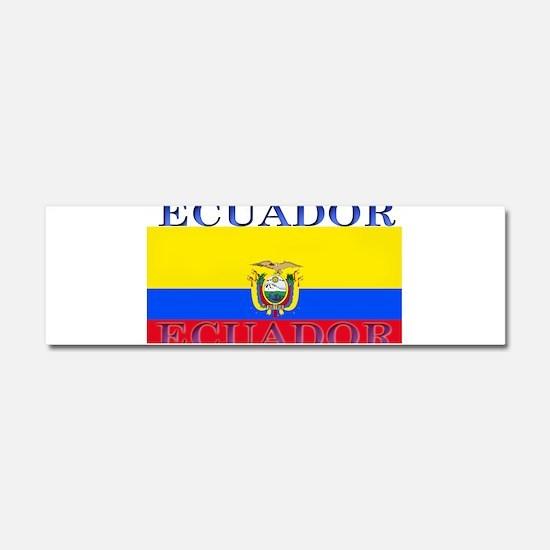 Ecuador Ecuadorian Flag Car Magnet 10 x 3
