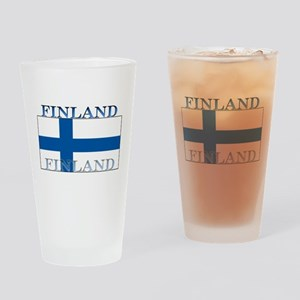 Finland Finish Flag Pint Glass