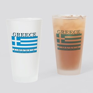 Greece Greek Flag Pint Glass