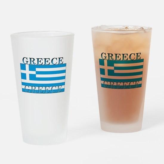 Greece Greek Flag Pint Glass