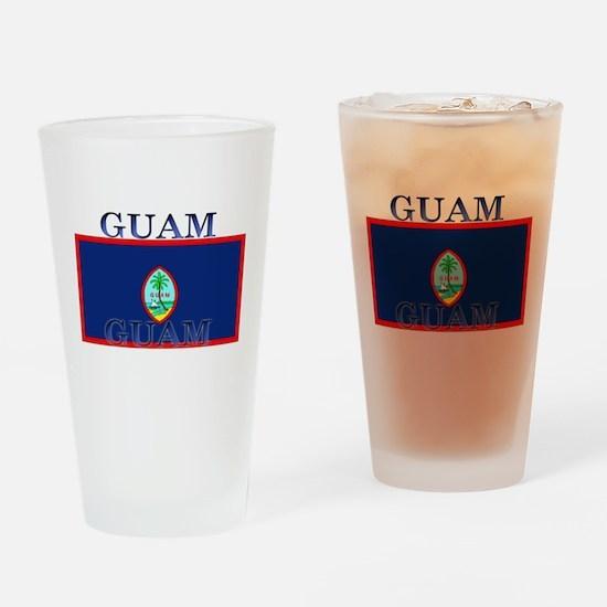 Guam Guaminian Flag Pint Glass