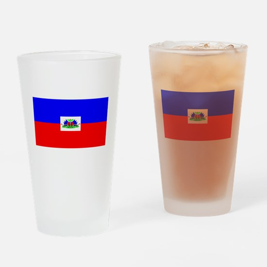 Haiti Blank Flag Pint Glass