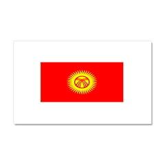 Kyrgyzstan Kyrgyz Blank Flag Car Magnet 12 x 20