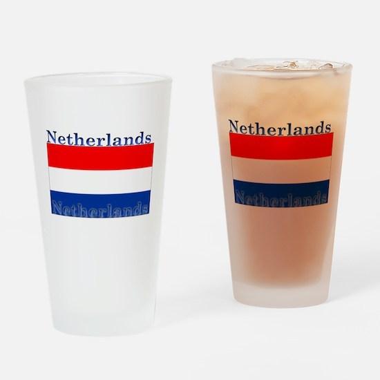 Netherlands Dutch Flag Pint Glass