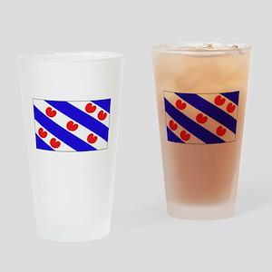 Friesland Frisian Blank Flags Pint Glass