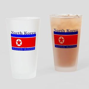 North Korea Korean Flag Pint Glass