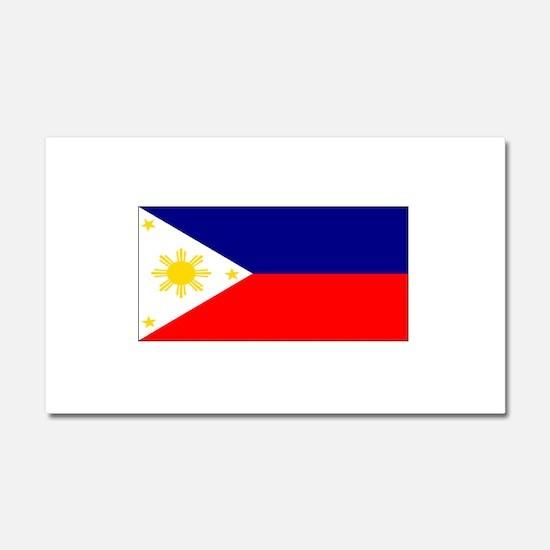 Filipino Pilipinas Blank Flag Car Magnet 12 x 20