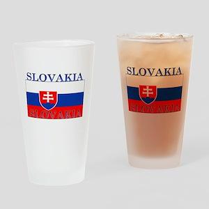 Slovakia Slovak Flag Pint Glass