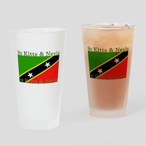 St Kitts & Nevis Pint Glass
