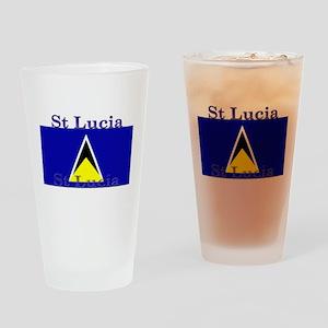 St Lucia Pint Glass