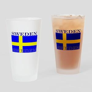 Sweden Swedish Flag Pint Glass