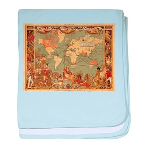 World map baby blankets cafepress gumiabroncs Image collections