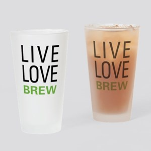 Live Love Brew Drinking Glass