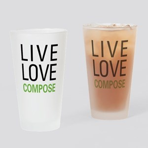 Live Love Compose Drinking Glass
