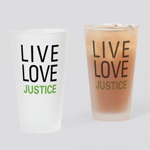 Live Love Justice Pint Glass
