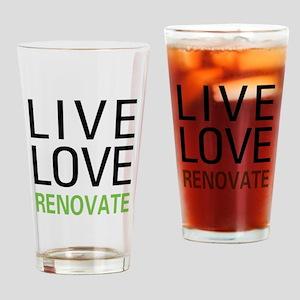 Live Love Renovate Pint Glass